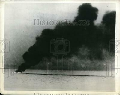 1942 Press Photo Japanese Munition Ship Loses In Naval Engagement