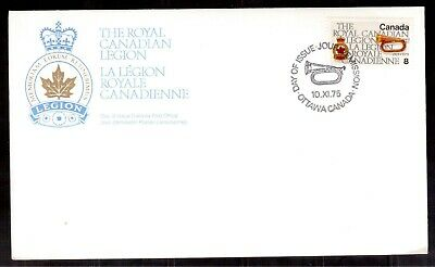 Canada 1975 First Day Cover # 680, Royal Canadian Legion !!