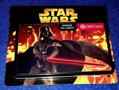 Star Wars Revenge Of The Sith Darth Vader Target Light Up Gift Card Exclusive