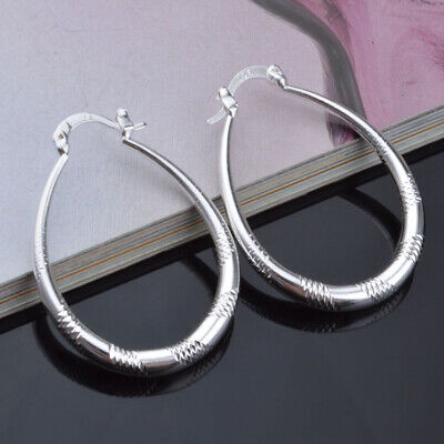 Fashion New Style Jewelry Woman Party 925 Silver Charm Earring Lover Gift 1pair