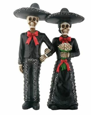 Skeleton Mariachi Couple Day of the Dead Dia de Los Muertos Figurine