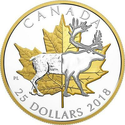Canada - 2018 'Caribou - Timeless Icons' Piedfort Proof $25 Silver Coin (#0068)