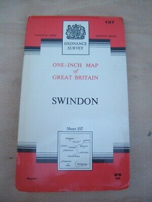 Ordnance Survey Map Seventh Series Sheet 157 Swindon