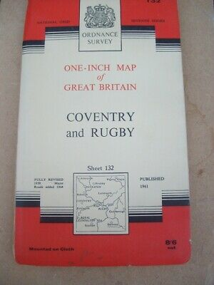 Ordnance Survey Map Seventh Series Sheet 132 Coventry and Rugby