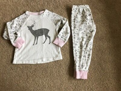 Girls Christmas Stag pyjamas, Matalan, Age 4 Yrs