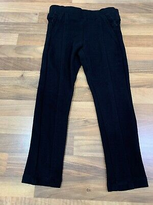 Girls NEXT Black Ponte Smart Trousers. Age 5. VGC