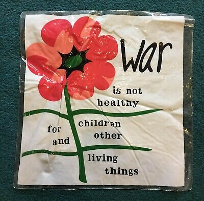 "Vintage War Is Not Healthy Inflatable 18"" x 18"" Pillow - Anti-War"