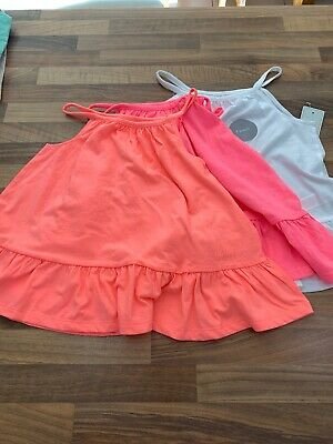 Girls Cami Tops Bundle, Age 5-6. F&F. BNWT