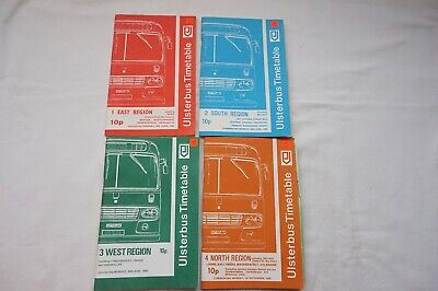 1980 Ulsterbus Bus Timetable x4 Belfast Newry Omagh Armagh Northern Ireland