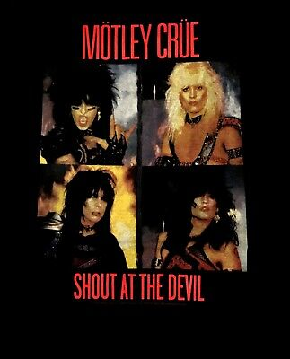 MOTLEY CRUE - SHOUT AT THE DEVIL CD ALBUM COVER Official SHIRT MED new