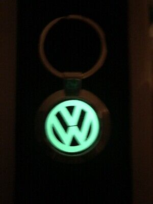 Volkswagen Stainless Steel keyring VW GOLF POLO PASSAT SCIROCCO Carbon / Glow