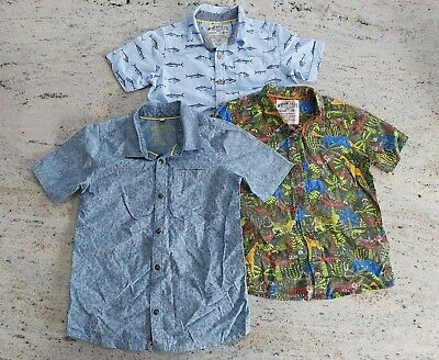 3 X Marks & Spencer Boys Short Sleeved Shirts. All Excellent Condition. Aged 6-7