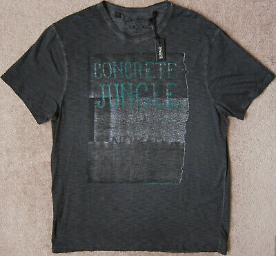 BUFFALO David Bitton (Black) Dyed and Washed Graphic T-Shirt Mens NWT $39