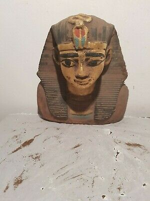 Rare Antique Ancient Egyptian King Tatankhamun Mask Cobra Wadjet1332–1323BC