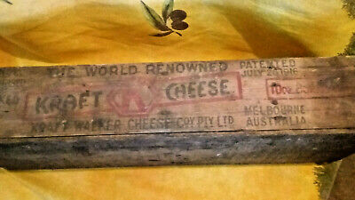 vintage collectable kraft chease box  Aaustralian stamped and dated 1933