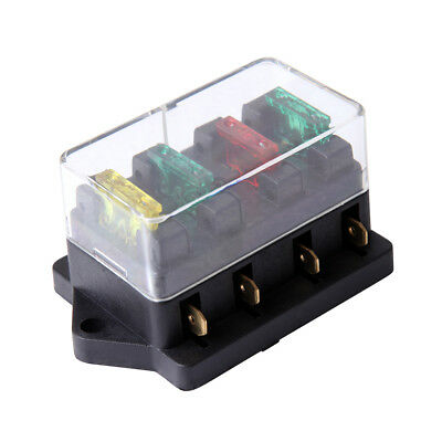 8 WAY FUSE HOLDER BOX CAR VEHICLE CIRCUIT BLADE FUSE BOX BLOCK with 8 Fuses W5L4