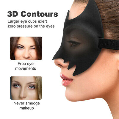 Shade Cover Super Soft 3D Blindfold Blackout Bat Eye Mask Travel Rest Sleep Aid