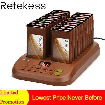 2*Restaurant Wireless Paging Queuing Waiter Calling System W/ 40*Coaster PagerUK