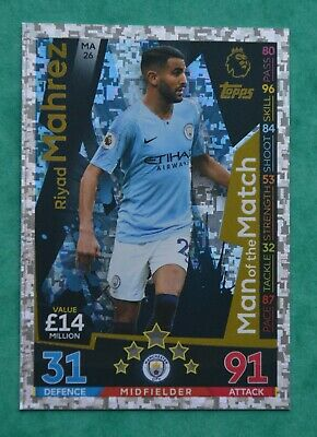 Match Attax Extra 2018-19  Riyad Mahrez - Manchester City  Man Of The Match