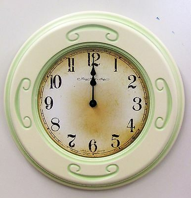 """Traditional 13"""" Wooden Wall Clock Made By The Hermle Clock Co 30776-002100"""