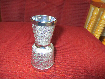 Vintage DOUBLE-SIDED JIGGER Textured Plastic Shot Glass