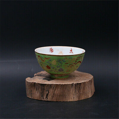 Chinese Ming Dynasty porcelain Hand painted double Dragon bowl cup