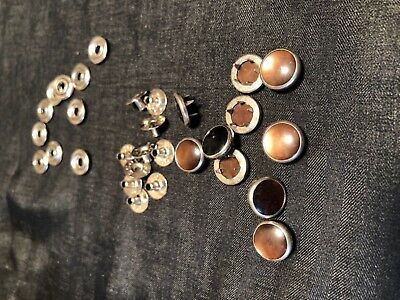 Ginger Snaps Brown  PEARL SNAP FASTENERS Buttons Western Shirt Crafts Vintage