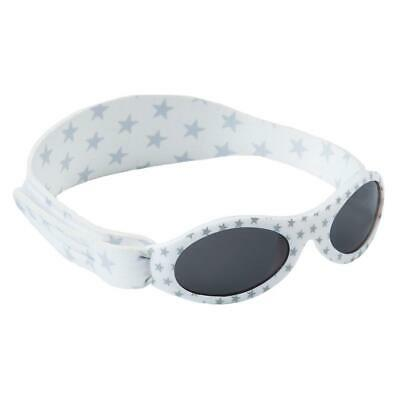 Baby Banz Dooky Sunglasses 100% UVA/UVB Protection (0-2yrs) White & Silver Stars