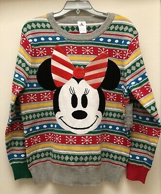 AUTHENTIC NWT DISNEY Store * CHRISTMAS 2018 Sweater * Minnie