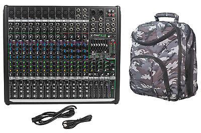 Mackie PROFX16v2 Pro 16 Channel 4 Bus Mixer w Effects and USB+CAMOPACK Case