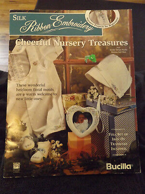 """Cheerful Nursery Treasures"" Silk Ribbon Embroidery Leaflet by Bucilla"