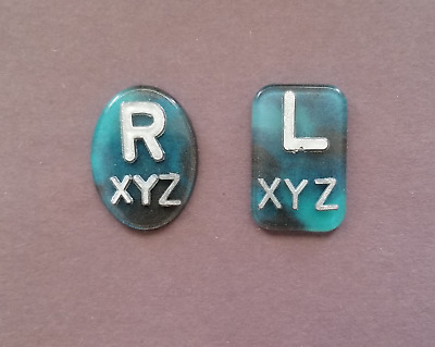 Black and Teal X-ray Markers