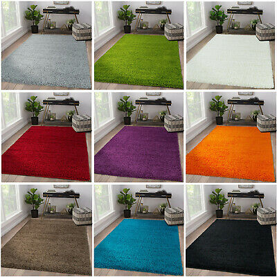 5Cm High Pile Shaggy Rug Small Extra Large Thick Soft Living Room Floor Bedroom