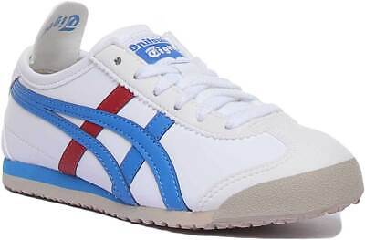 Onitsuka Tiger Mexico 66 Ps Kids Synthetic Trainer In White Blue Size UK 10 - 2