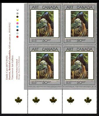 CANADA Stamp #1310 50¢ Masterpieces of Canadian Art LL Inscription Block MNH