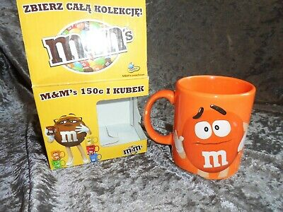 2014 OFFICIAL MARS COLLECTABLE M & M's MUG IN ORANGE FROM SERIES OF 6