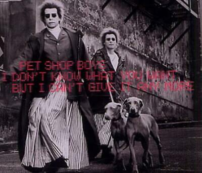 """Pet Shop Boys I Don't Know What You Want UK CD single (CD5 / 5"""") CDRS6523 EMI"""
