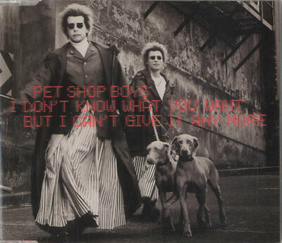 Pet Shop Boys I Don't Know What You Want... 2-CD single (Double CD single) UK