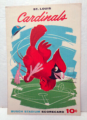 Vintage 1961 MLB St. Louis Cardinals vs. Cincinnati Reds Scorecard!