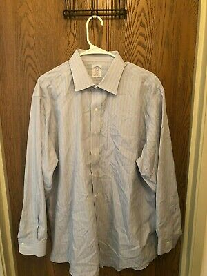 Brooks Brothers Multi-Color Long Sleeve Striped Supima Cotton 17.5-34