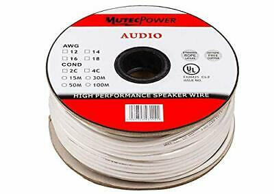Mutec-Cable -Speaker Wire 2 x 2.5mm? (14AWG) 30M CL2 (2 x 2.5mm² 30 Meter)
