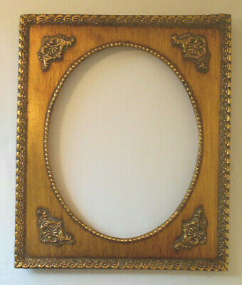 Ornate Gold gilt Wood Picture/Photo wall Frame 10 x 12 total~9.5 x 7.5 pic area