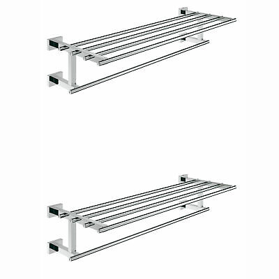Grohe Essentials 23 Inch Multi Towel Bar with StarLight Chrome Finish (2 Pack)