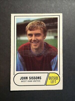 A&BC 1969 GREEN BACK 3rd SERIES - #151 John Sissons (West Ham United) CAPPED