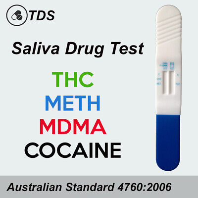 10 x THC Saliva Drug Test Kit - THC, MDMA, METH & COC Drug Tests, Testing Kits