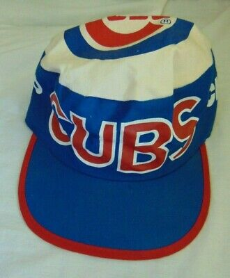 130acd1c8029a CHICAGO CUBS VINTAGE Painters Hat BASEBALL Throwback 80s! Sz-Med ...