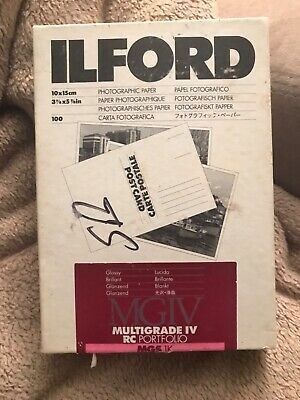 ILFORD MULTIGRADE IV RC B&W glossy Postcard 10x15cm 85 sheets photopaper sealed