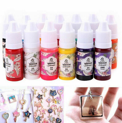 12 Bottles 12 Color Epoxy UV Resin Coloring Dye Colorant Resin Pigment Craft Kit