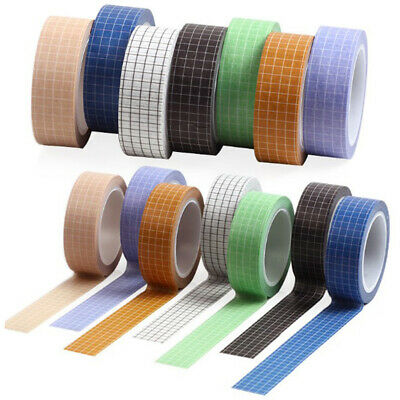 Grid Printed Paper Washi Tape Set for Planner Scrapbooking Masking Sticker Paper