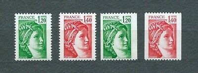 TYPE SABINE - 1980 YT 2101 à 2104 - TIMBRES NEUFS** MNH LUXE